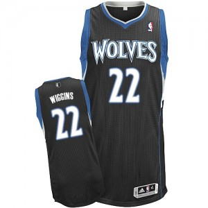 Maillot NBA Authentic Andrew Wiggins #22 Minnesota Timberwolves Alternate Noir - Homme