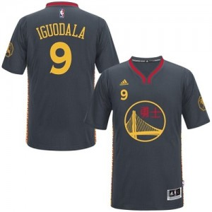Maillot NBA Noir Andre Iguodala #9 Golden State Warriors Slate Chinese New Year Authentic Homme Adidas