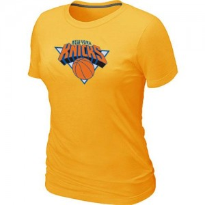T-Shirt NBA Jaune New York Knicks Big & Tall Femme