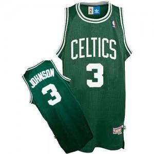 Boston Celtics #3 Adidas Throwback Vert Authentic Maillot d'équipe de NBA pas cher - Dennis Johnson pour Homme