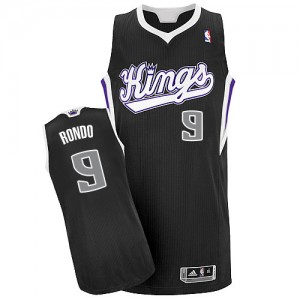 Maillot NBA Authentic Rajon Rondo #9 Sacramento Kings Alternate Noir - Homme