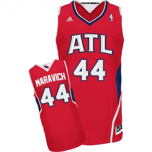 Maillot NBA Rouge Pete Maravich #44 Atlanta Hawks Alternate Swingman Homme Adidas