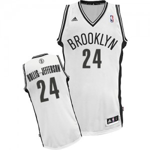 Maillot Adidas Blanc Home Swingman Brooklyn Nets - Rondae Hollis-Jefferson #24 - Homme