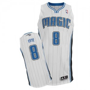 Orlando Magic Channing Frye #8 Home Authentic Maillot d'équipe de NBA - Blanc pour Homme