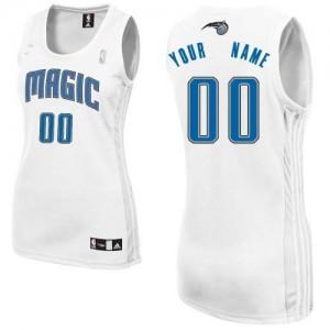 Orlando Magic Authentic Personnalisé Home Maillot d'équipe de NBA - Blanc pour Femme