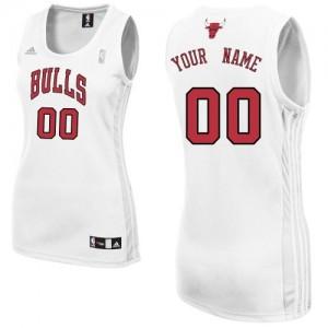 Maillot NBA Chicago Bulls Personnalisé Authentic Blanc Adidas Home - Femme