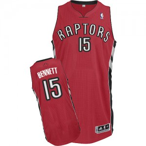 Maillot Adidas Rouge Road Authentic Toronto Raptors - Anthony Bennett #15 - Homme