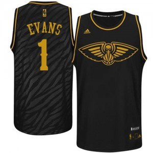 Maillot Adidas Noir Precious Metals Fashion Swingman New Orleans Pelicans - Tyreke Evans #1 - Homme