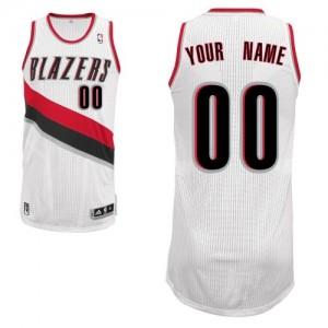 Portland Trail Blazers Personnalisé Adidas Home Blanc Maillot d'équipe de NBA Discount - Authentic pour Enfants