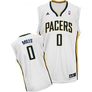 Maillot NBA Indiana Pacers #0 C.J. Miles Blanc Adidas Swingman Home - Homme