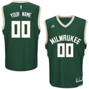 Milwaukee Bucks Swingman Personnalisé Road Maillot d'équipe de NBA - Vert pour Enfants