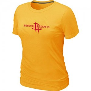 T-Shirt NBA Jaune Houston Rockets Big & Tall Femme