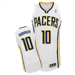 Maillot Authentic Indiana Pacers NBA Home Blanc - #10 Chase Budinger - Homme