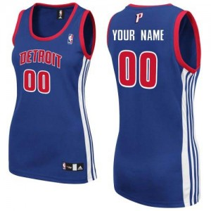 Maillot Detroit Pistons NBA Road Bleu royal - Personnalisé Authentic - Femme