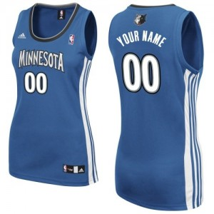 Maillot NBA Slate Blue Swingman Personnalisé Minnesota Timberwolves Road Femme Adidas