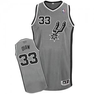 Maillot Adidas Gris argenté Alternate Authentic San Antonio Spurs - Boris Diaw #33 - Homme