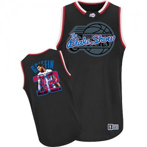 Maillot NBA Los Angeles Clippers #32 Blake Griffin Noir Adidas Authentic Notorious - Homme