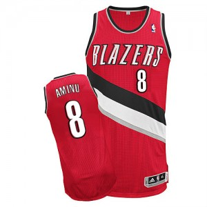 Maillot Adidas Rouge Alternate Authentic Portland Trail Blazers - Al-Farouq Aminu #8 - Homme