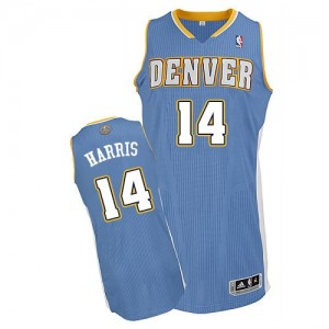 Denver Nuggets #14 Adidas Road Bleu clair Authentic Maillot d'équipe de NBA Promotions - Gary Harris pour Homme