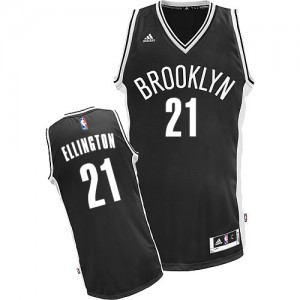 Maillot NBA Swingman Wayne Ellington #21 Brooklyn Nets Road Noir - Homme