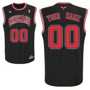 Maillot NBA Swingman Personnalisé Chicago Bulls Alternate Noir - Enfants