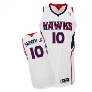 Atlanta Hawks Tim Hardaway Jr. #10 Home Authentic Maillot d'équipe de NBA - Blanc pour Homme