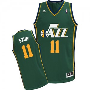 Maillot Adidas Vert Alternate Swingman Utah Jazz - Dante Exum #11 - Homme