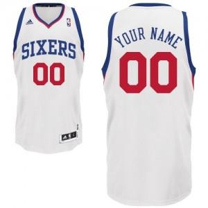 Maillot Philadelphia 76ers NBA Home Blanc - Personnalisé Swingman - Enfants