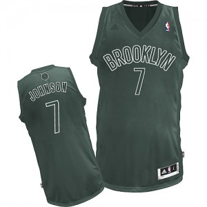 Maillot NBA Brooklyn Nets #7 Joe Johnson Gris Adidas Swingman Big Color Fashion - Homme