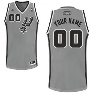 Maillot NBA Gris argenté Swingman Personnalisé San Antonio Spurs Alternate Enfants Adidas