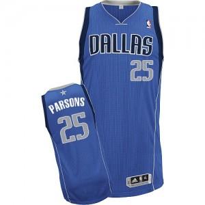 Maillot Adidas Bleu royal Road Authentic Dallas Mavericks - Chandler Parsons #25 - Homme
