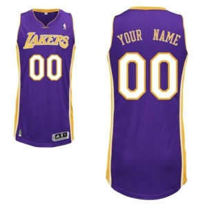 Maillot NBA Authentic Personnalisé Los Angeles Lakers Road Violet - Homme