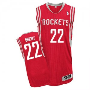 Houston Rockets #22 Adidas Road Rouge Authentic Maillot d'équipe de NBA 100% authentique - Clyde Drexler pour Homme