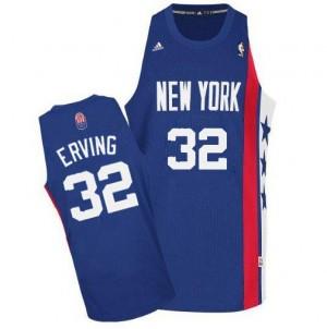 Brooklyn Nets #32 Adidas ABA Retro Throwback Bleu Swingman Maillot d'équipe de NBA vente en ligne - Julius Erving pour Homme