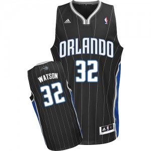 Maillot NBA Orlando Magic #32 C.J. Watson Noir Adidas Swingman Alternate - Homme