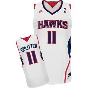 Maillot Adidas Blanc Home Swingman Atlanta Hawks - Tiago Splitter #11 - Homme