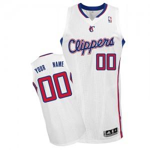 Los Angeles Clippers Authentic Personnalisé Home Maillot d'équipe de NBA - Blanc pour Homme