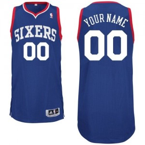 Maillot NBA Authentic Personnalisé Philadelphia 76ers Alternate Bleu royal - Enfants