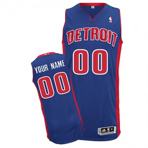 Maillot NBA Authentic Personnalisé Detroit Pistons Road Bleu royal - Homme