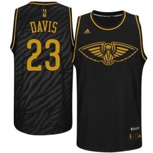Maillot NBA Authentic Anthony Davis #23 New Orleans Pelicans Precious Metals Fashion Noir - Homme