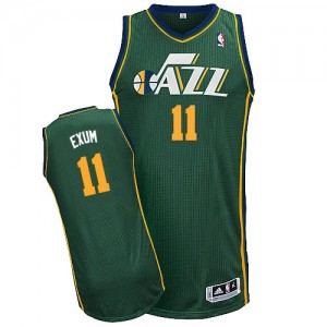 Maillot NBA Authentic Dante Exum #11 Utah Jazz Alternate Vert - Homme