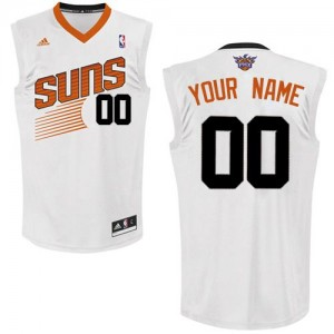 Maillot Adidas Blanc Home Phoenix Suns - Swingman Personnalisé - Homme