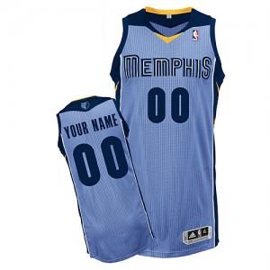 Memphis Grizzlies Authentic Personnalisé Alternate Maillot d'équipe de NBA - Bleu clair pour Enfants