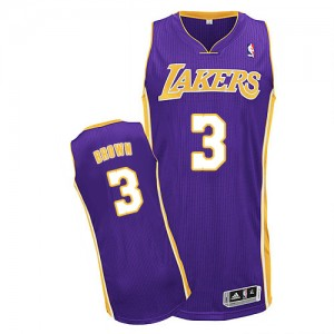 Los Angeles Lakers Anthony Brown #3 Road Authentic Maillot d'équipe de NBA - Violet pour Homme