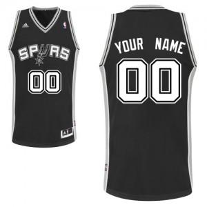 Maillot NBA San Antonio Spurs Personnalisé Swingman Noir Adidas Road - Enfants