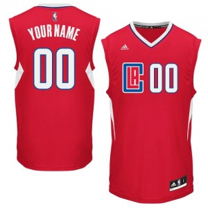 Maillot Adidas Rouge Road Los Angeles Clippers - Authentic Personnalisé - Femme