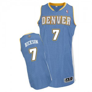 Maillot NBA Bleu clair JJ Hickson #7 Denver Nuggets Road Authentic Homme Adidas