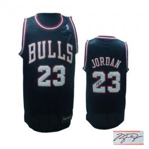 Chicago Bulls Michael Jordan #23 Alternate Autographed Authentic Maillot d'équipe de NBA - Noir pour Homme