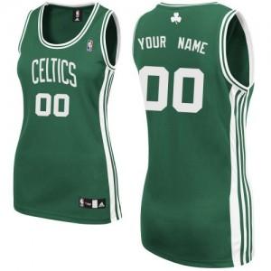 Maillot NBA Authentic Personnalisé Boston Celtics Road Vert (No Blanc) - Femme