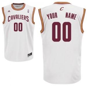 Maillot NBA Swingman Personnalisé Cleveland Cavaliers Home Blanc - Enfants
